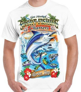 tshirt sport fishing pêche en mer