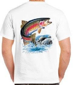 T-shirt truite arc en ciel géante