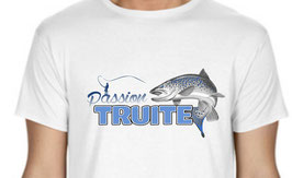Tee-shirt passion pêche de la truite