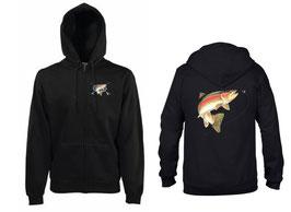 Veste sweat pêcheur de truite sauvage