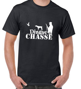 T-shirt homme dingue de chasse