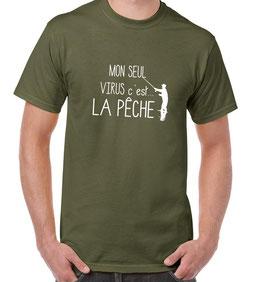 T-shirt le virus de la pêche