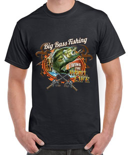T-shirt pêcheur big bass fishing
