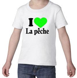 T-shirt jeune pêcheur j'aime la pêche