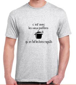 T-shirt marrant et drole pour homme