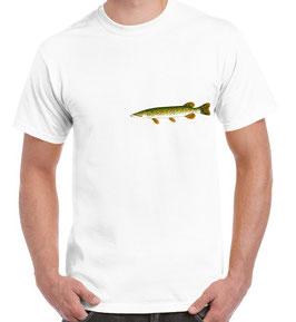 tee-shirt pêche brochet en riviere