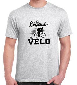 T-shirt papa la légende du vélo