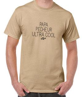 T-shirt papa pecheur ultra cool