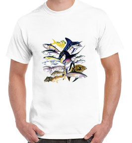 Tee-shirt pêcheur de poisson de mer