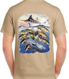 T-shirt pêche exotique
