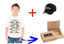 BOITE cadeau jeune pêcheur de poisson record