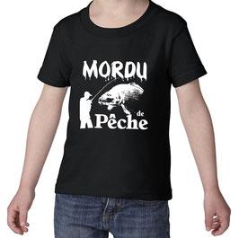 T-shirt jeune mordu de pêche