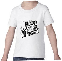 T-shirt garçon fishing mouche