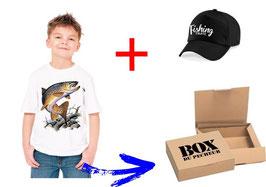 BOITE cadeau jeune pêcheur de truite fario
