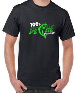 Tshirt pecheur 100 pour 100 pêche passion