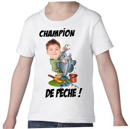 T-shirt garçon champion de peche