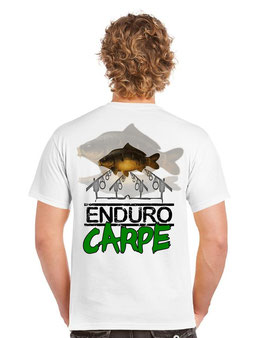 Tee-shirt pêcheur carpe miroir