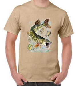 T-shirt pêche au brochet