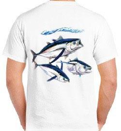 tee-shirt pêche de la bonite en mer RV
