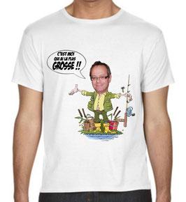 T-shirt humour plus gros poisson, c'est qui est la plus grosse