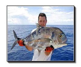 Tapis de souris personnalisé pêcheur