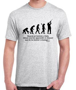Tee-shirt apprendre à chasser
