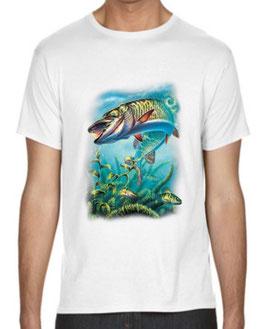 T-shirt pêcher le brochet