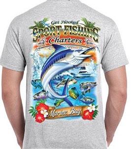 T-shirt sport pêche en mer