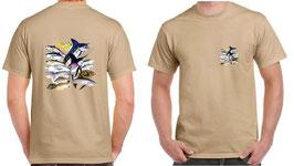 Tee-shirt pêcheur en mer