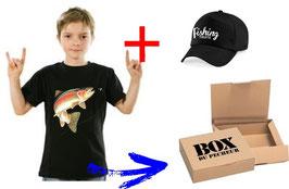 BOITE cadeau jeune pêcheur de truite sauvage