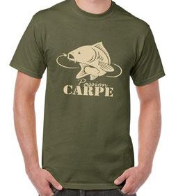T-shirt pêche a la carpe au maïs