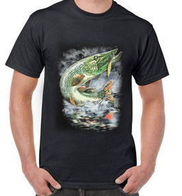 T-shirt pêche au brochet au leurre