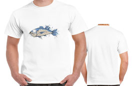 T-shirt drole de poisson bleu