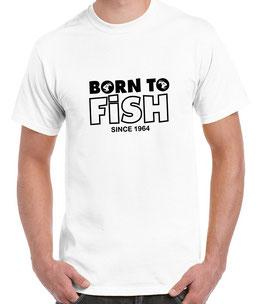 T-shirt born to fish