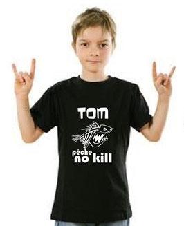T-shirt garçon pêche no kill