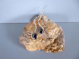 Boucle d'oreille hématite
