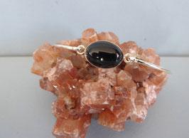 Bracelet demi-jonc onyx noir