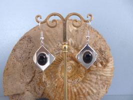 Boucles d'oreille onyx noir