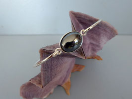Bracelet demi-jonc hématite