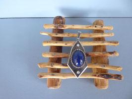 Pendentif vieil argent lapis lazuli P M 2 LZ