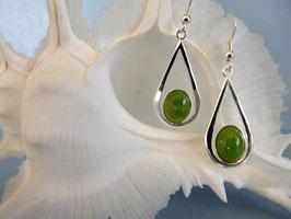 Boucles d'oreille jade