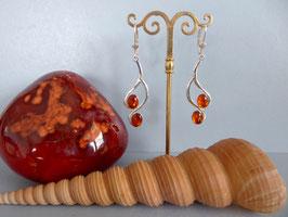 Boucles d'oreille ambre