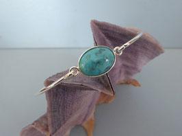 Bracelet demi-jonc turquoise