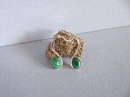 Boucles d'oreille malachite