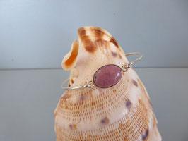 Bracelet demi-jonc rhodonite