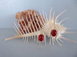 Boucles d'oreille cornaline