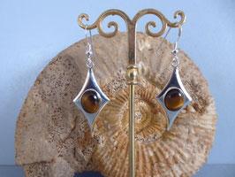 Boucles d'oreilles oeil de tigre