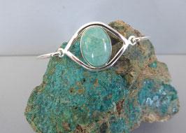 Bracelet  œil demi-jonc amazonite