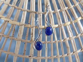 Boucles d'oreille en lapis lazuli