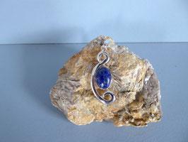 Pendentif martelé lapis lazuli P NO 8 LZ